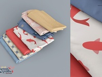 Fabric Stack Mockup Set