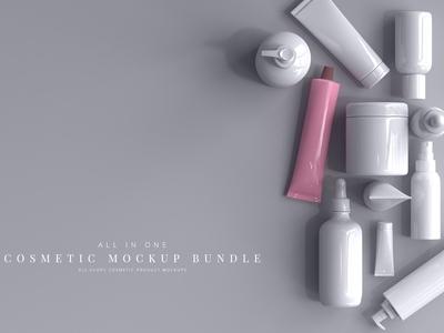 Cosmetic Product Mockup Bundle