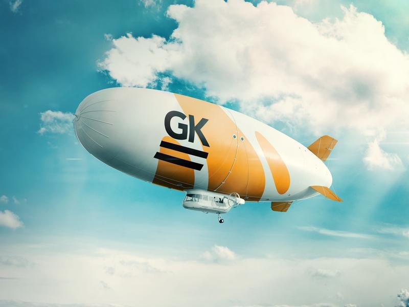 Realistic 3D Zeppelin PSD Mockup / Dirigible