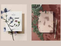 Cosmetics floral stationery 4