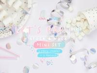 Let's party! Stock & Mock mini set