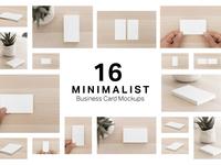 16 Minimalist Business Card Mockups