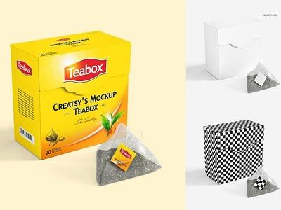 Tea Box Mockup Set 2