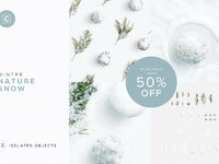 Isolated objects snow customscene cover 50dto