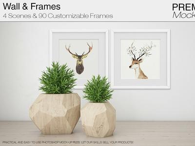 Wall & Frames Mockup - Plants