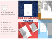 Free Download - Creador (Mockup Kit) Scene Creator