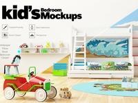 KID'S Bedroom Set Interior Mockups