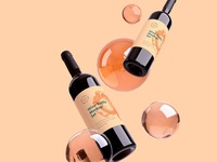 Wine Bottle Mockup 12 psd