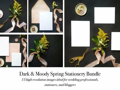 Dark & Moody Stationery Mockup