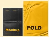 Fold - 6 Wrinkle Paper Mockup