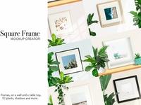 Square frame mockup creator