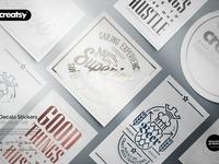 Decals Stickers Mockup Set