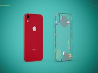 iPhone XR Clear Case Mockup Set