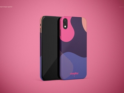 iPhone XR Snap Case Mockup (glossy)