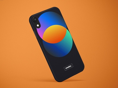 iPhone XR Snap Case Mockup (matte)