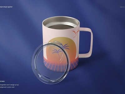 10oz Stainless Coffee Cup Mockup Set