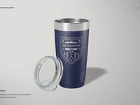 20oz Stainless Steel Tumbler Mockup
