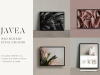Javea iPad Pro Mockup Scene Creator