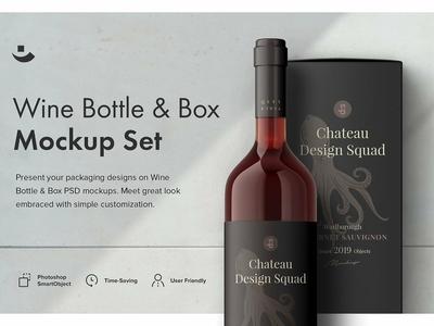 Essential Wine Bottle Mockup Set