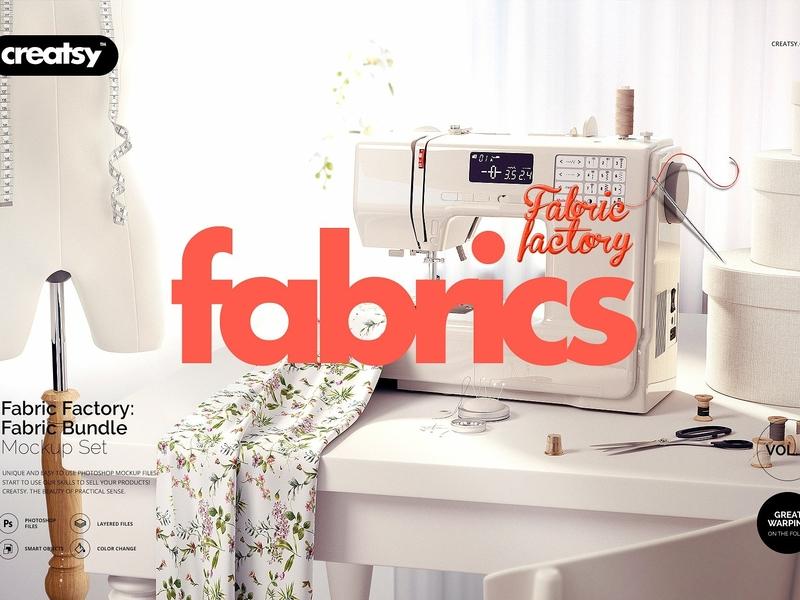 Fabric Factory Mockup Bundle by Mockup5 on Dribbble