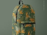 Polyester Backpack Mockup Set