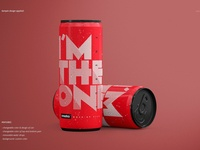 Energy Drink Can Mockup Set