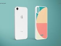 iPhone XR 2D Case (white) Mockup Set