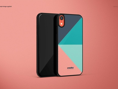 iPhone XR 2D Case (black) Mockup Set