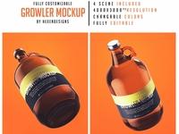 Growler Bottle Mockup