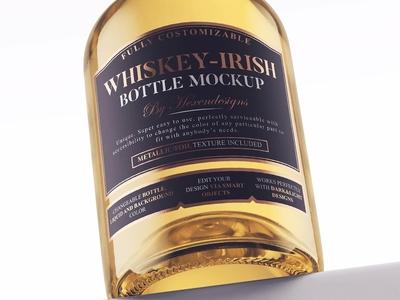 Whiskey-Irish Bottle Mockup