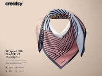 Wrapped Silk Scarf Mockup