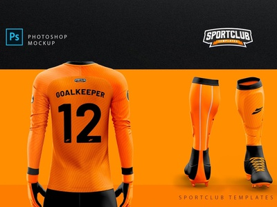 GoalKeeper Kit Mockup - PSD Template by Mockup5 on Dribbble