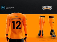 GoalKeeper Kit Mockup - PSD Template