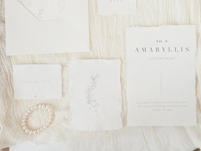 Modern Wedding Stationery Mock Up