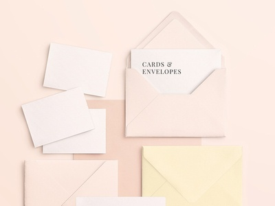 Cards & Envelopes Mockups Scene