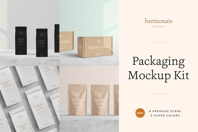 Package Mockup All Scenes - Min No.1