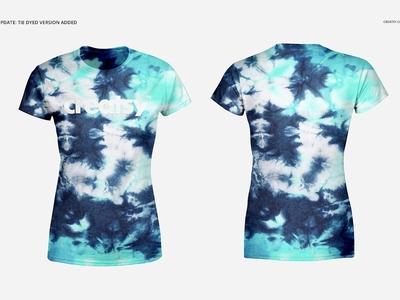 Mens and Womens T-shirt Mockup Set