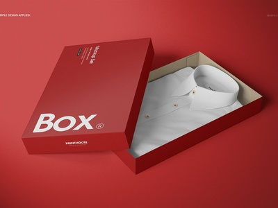 2-Piece Apparel Box Mockup Set