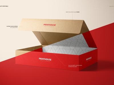 Natural Kraft Set Box Mockup Set