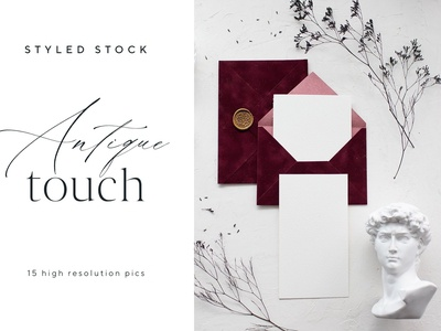 Antique Touch Styled Stock Photos