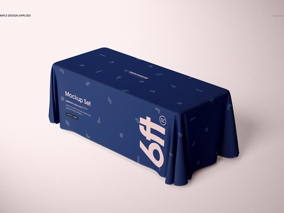 6ft Polyester Tablecloth Mockup Set