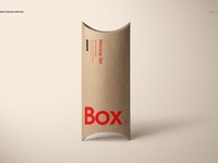 Kraft Paper Pillow Box Mockup Set