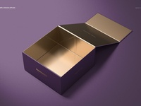 Magnetic Gift Box Mockup Set 02
