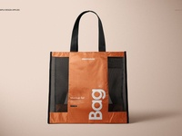 Mesh Shopping Tote Bag Mockup Set