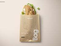 Sandwich Snack Paper Bag Mockup Set