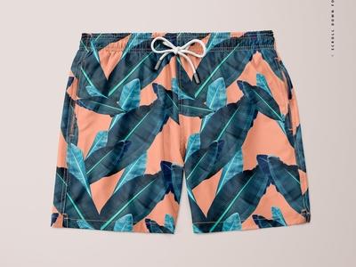Men's Swim Trunks Mockup Set