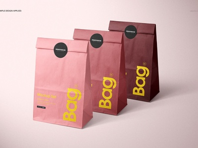 Lunch Bag Mockup Set