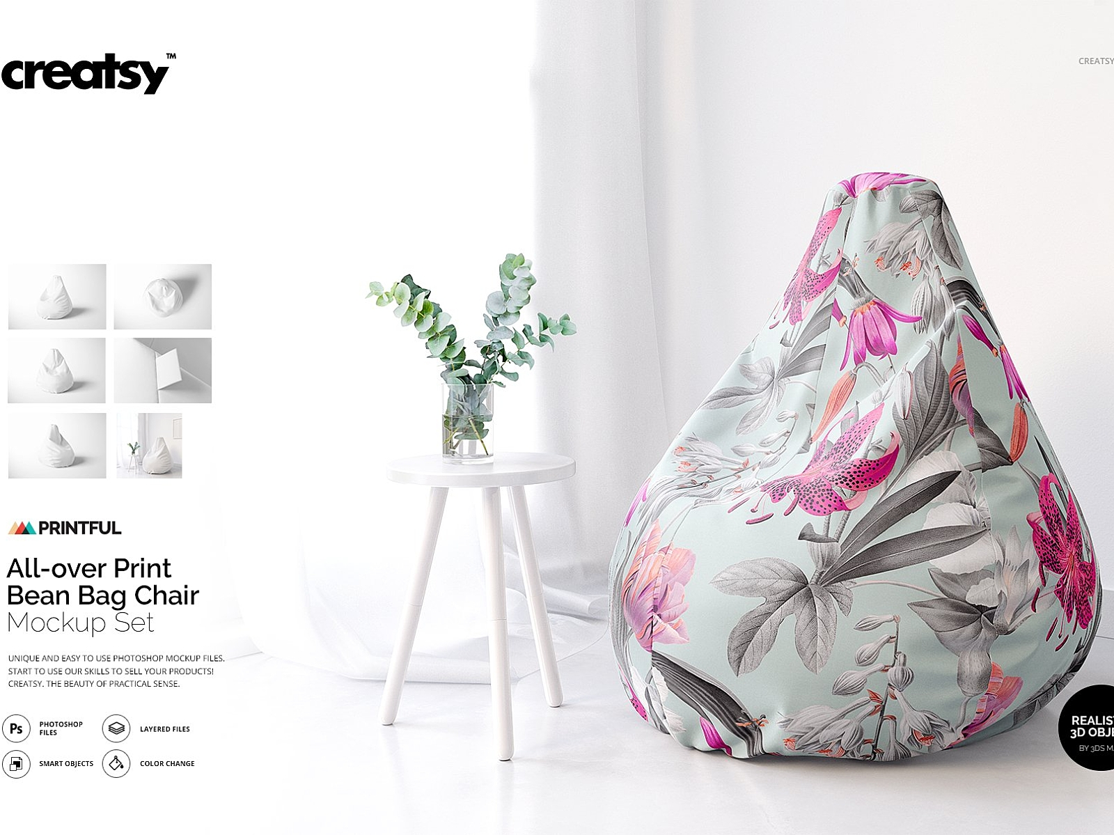 Outstanding All Over Print Bean Bag Chair Mockup By Mockup5 On Dribbble Unemploymentrelief Wooden Chair Designs For Living Room Unemploymentrelieforg