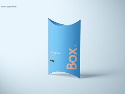 Pillow Box Mockup Set