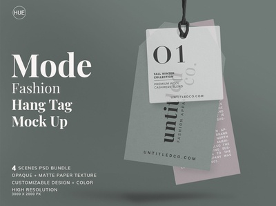 Mode-Fashion Hang Tag Mock Up